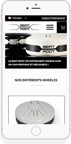 Beat Root mock Up smartphone