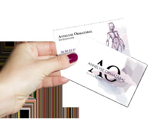 Création carte de visite Ostéopathe