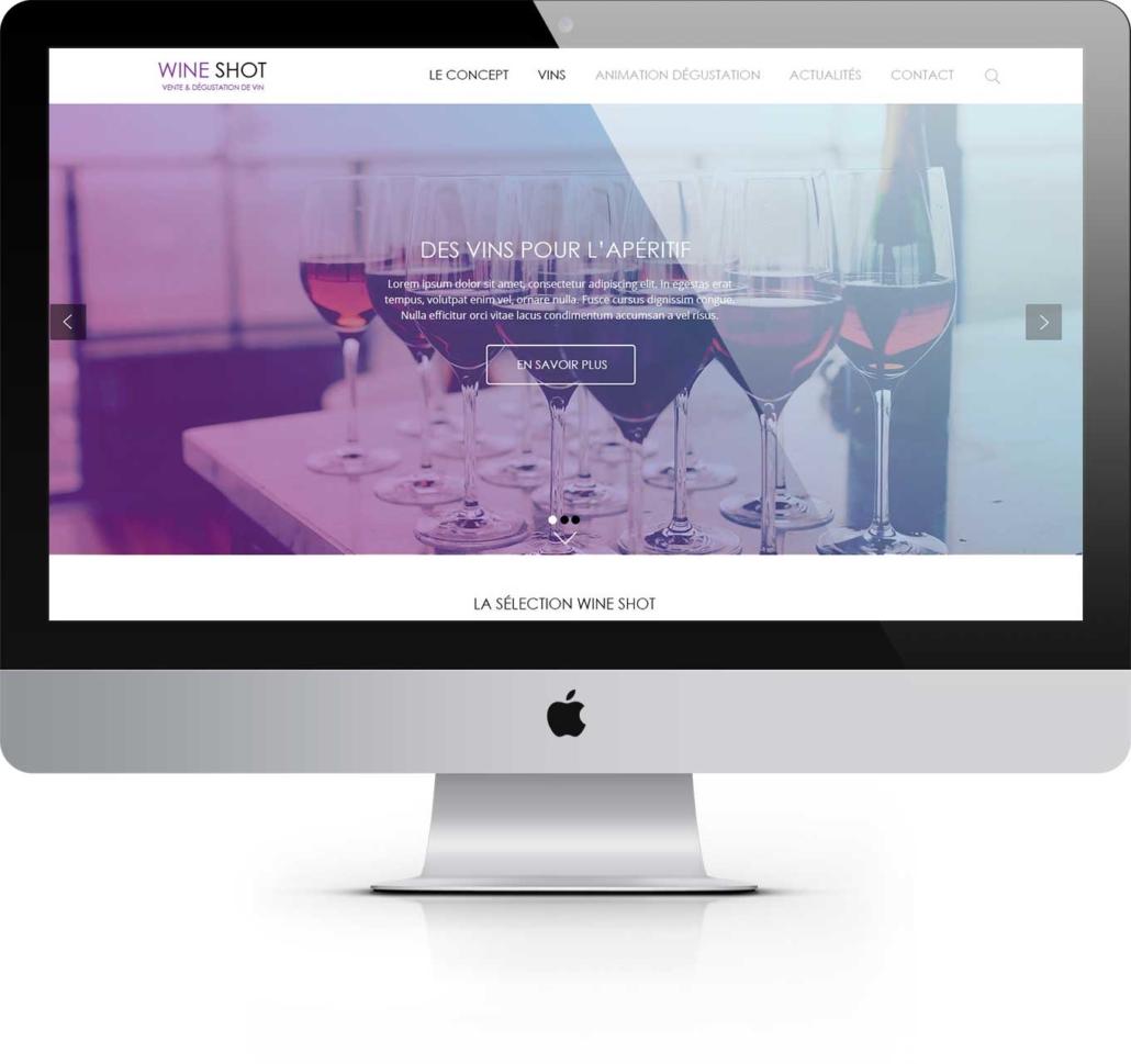 Wine Shot Création site catalogue