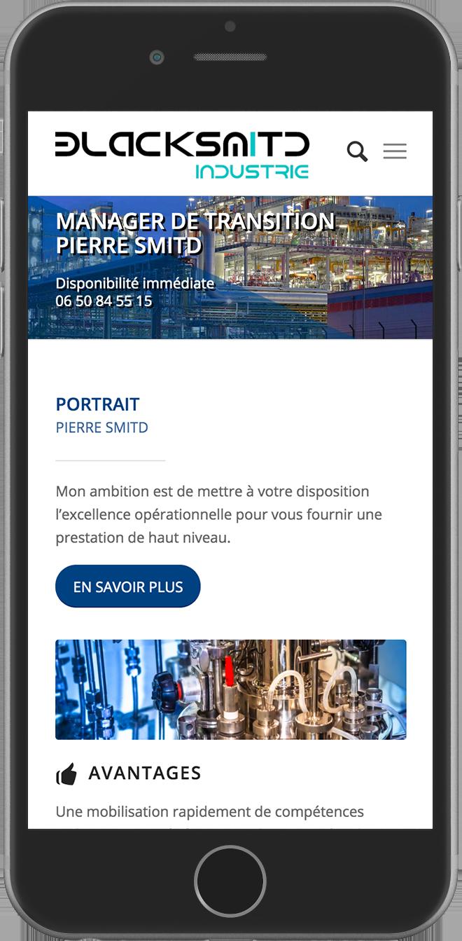 Blacksmitd Industrie - Refonte de site internet responsive